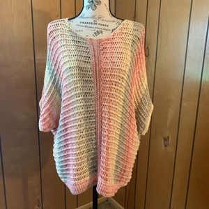 Women's Chico's crocheted pullover